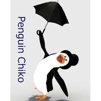 3d poser penguin model