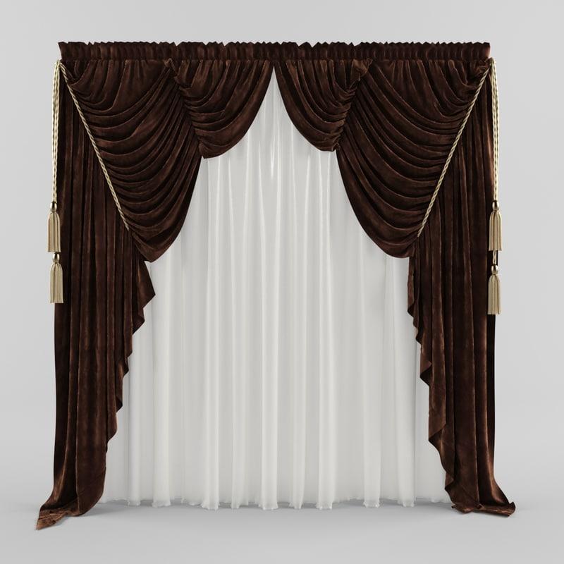 curtain -ray 3d model