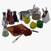 3d model kitchen accesories eva solo