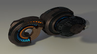 spaceship space ship c4d
