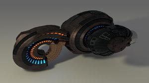 spaceship space ship c4d