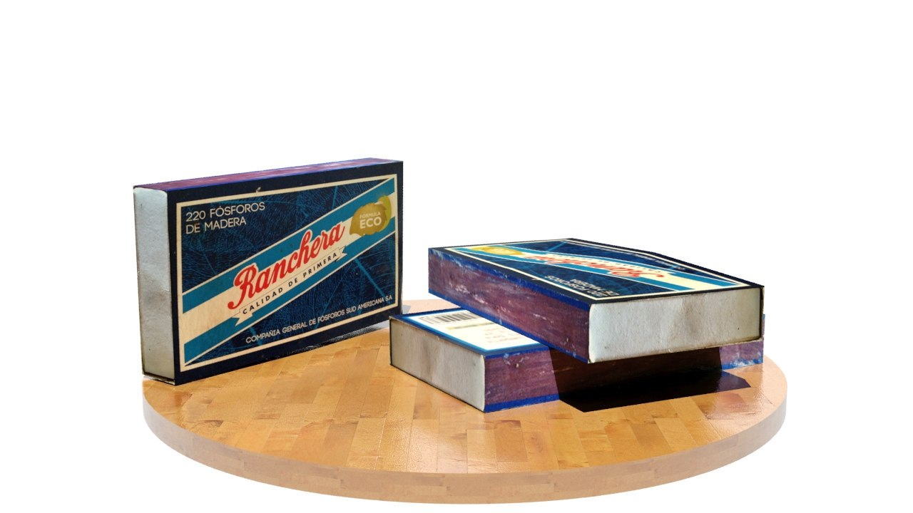 3d model of matches box