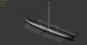 3ds max vikingship ship