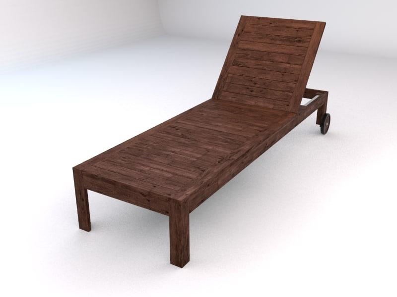 3d model ikea applaro outdoor chaise