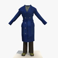 3d model womans blue winter