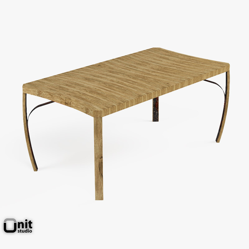 stave table 3d model