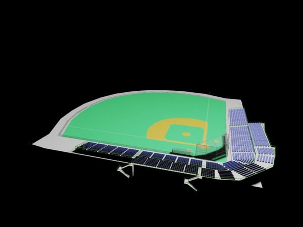 3ds max baseball field