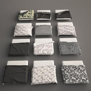 3d model bed blanket covers set