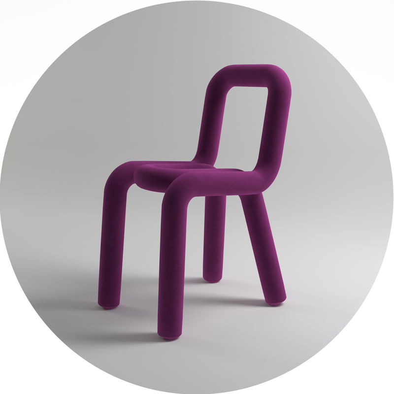 3ds max chair purple
