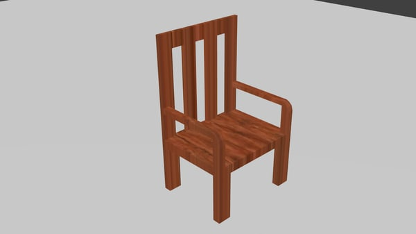old chair 3d 3ds