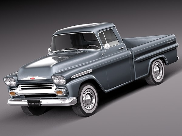 3d american v8 antique 1958 model