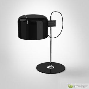 coupé table lamp 3d model