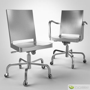 chairs hudson swivel 3d model