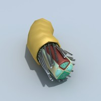 3ds max cut end electrical wire