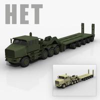 HET Tank Transporter 3D model