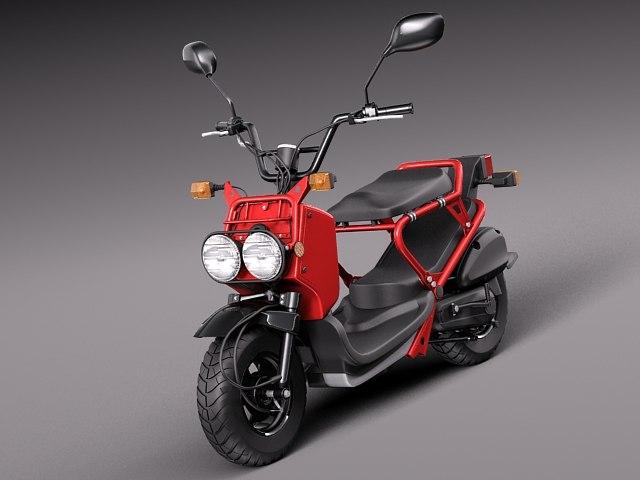 3d model honda 2013 scooter ruckus