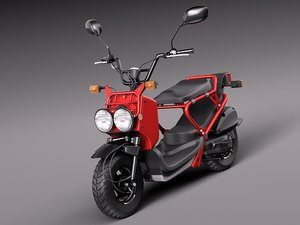 3d model honda 2013 scooter ruckus