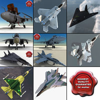 3d jet fighters 7 f 117 model