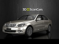 3d model mercedes benz c280 elegance