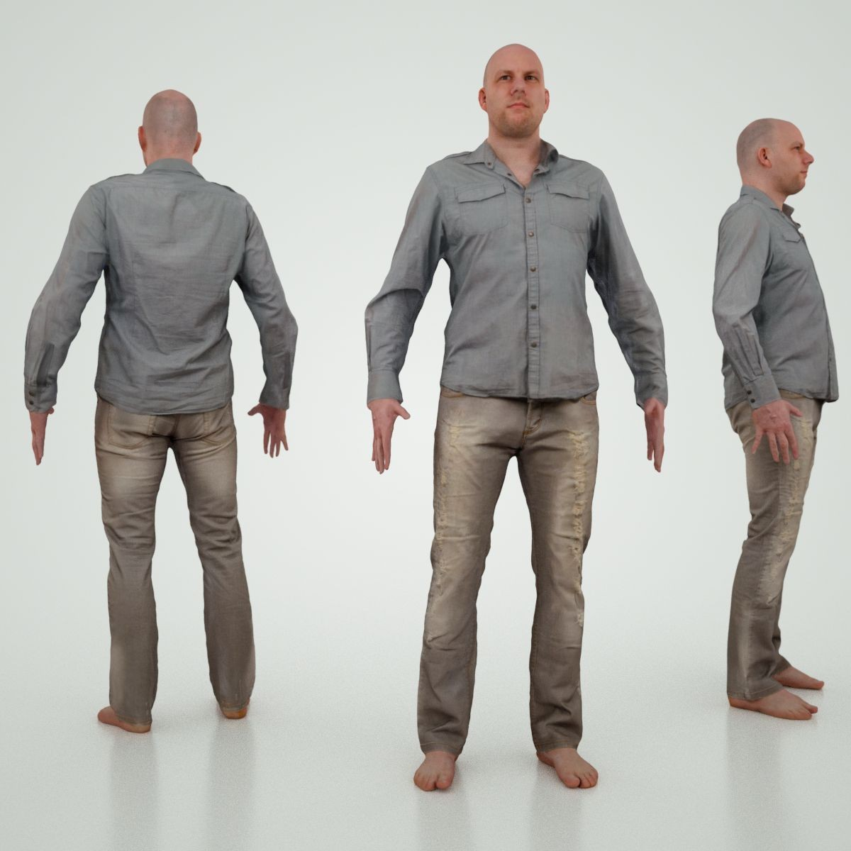 3d male character jeans