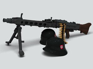 machine gun mg42 3d model
