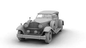 s car packard 3d obj