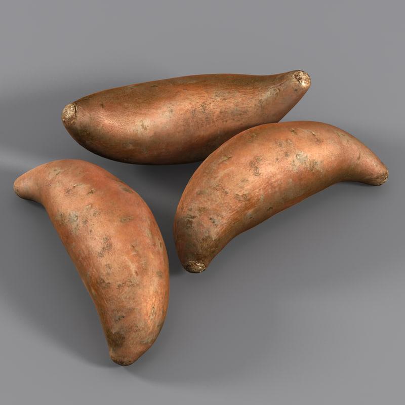 sweet potato 3d 3ds