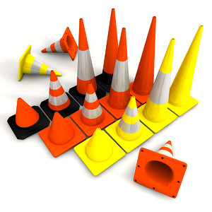 obj traffic cones