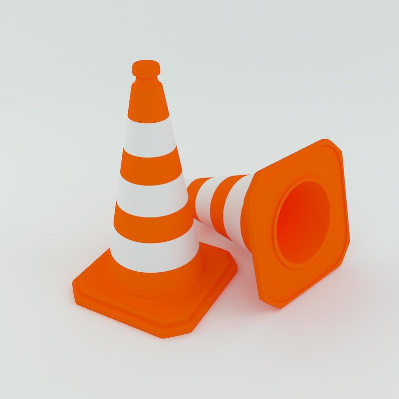 3ds max trafic cone