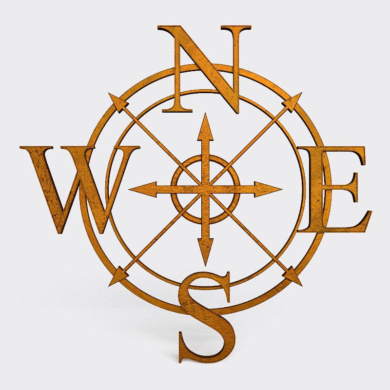 3d lwo wind rose symbol