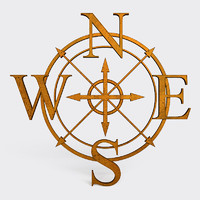 3d lwo wind rose symbol