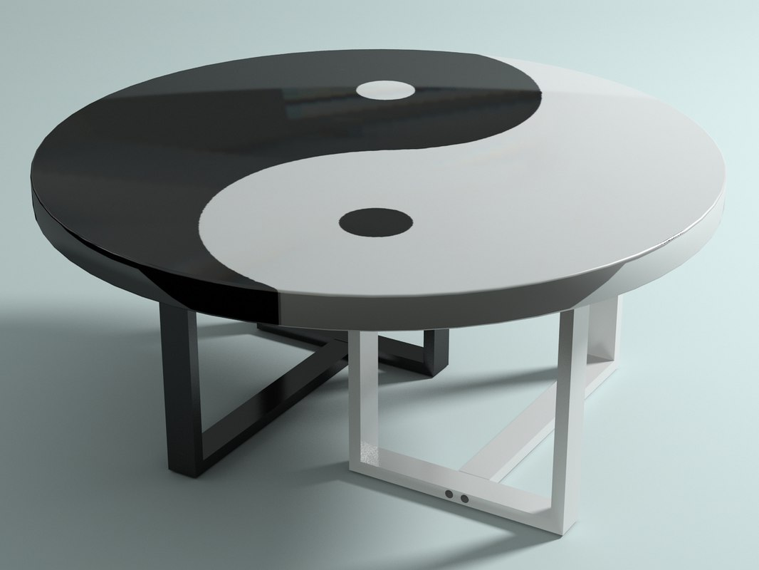 yin-yang table 3d max