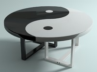 yin-yang table 3d max