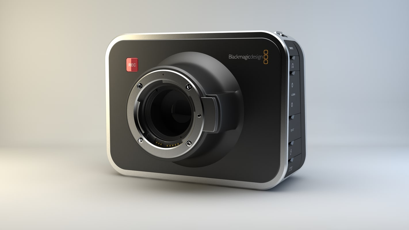 3d obj blackmagic camera