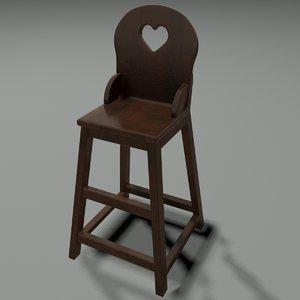 highchair chair 3d max