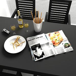 c4d kitchen decorations set 1