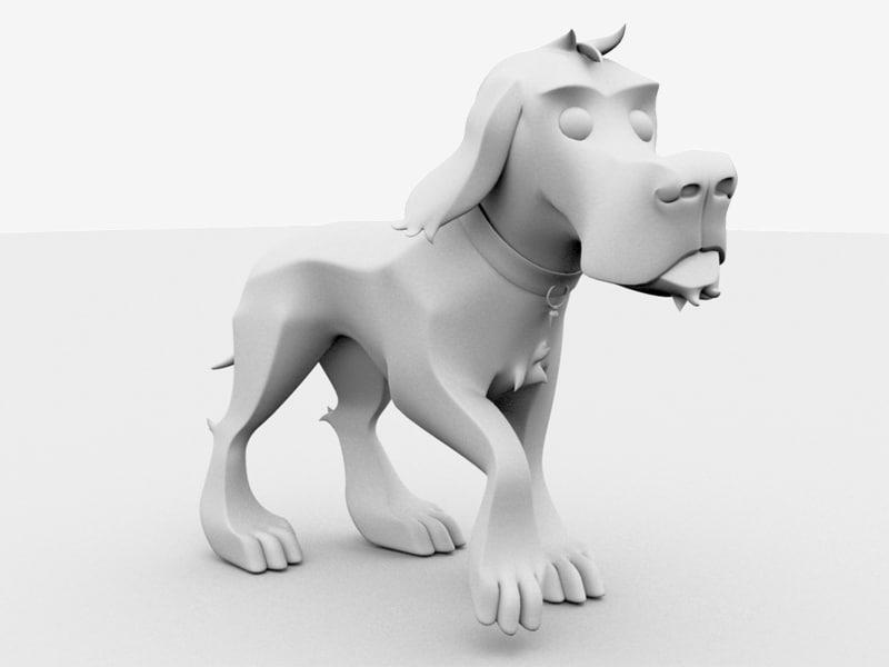 3d toon dog