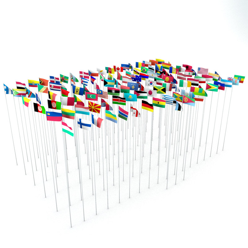 3d obj 111 flags
