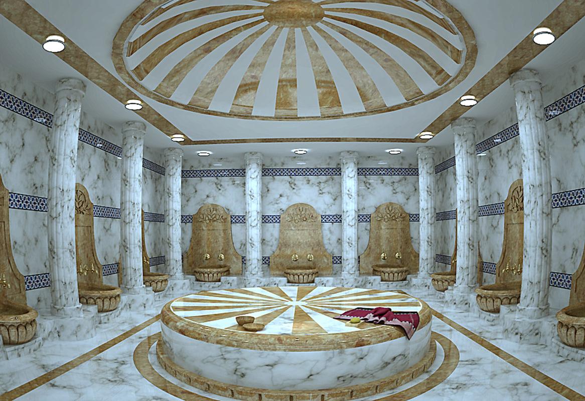 3d bath bathroom hamam