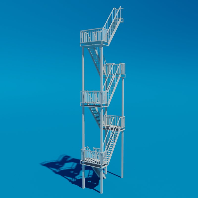 3d ladder industrial model