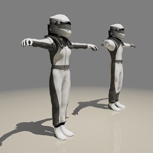 3dsmax male female racing suit
