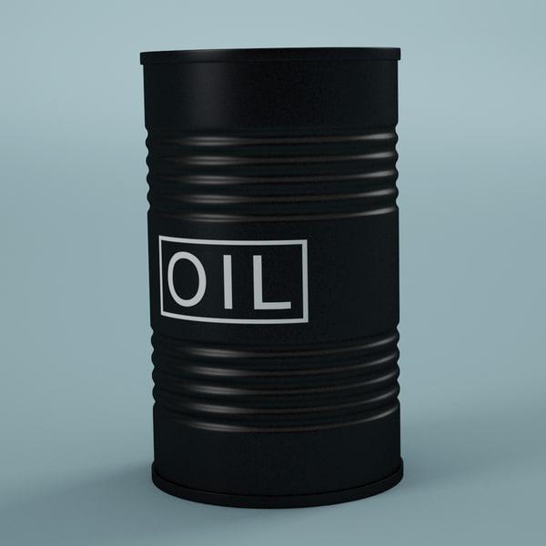 oil barrel 3d max