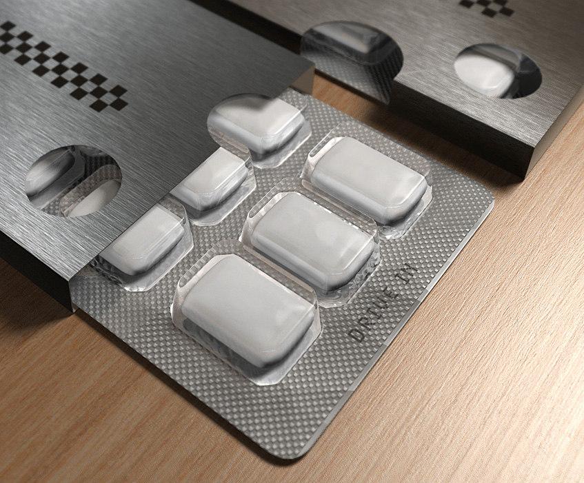 gum packaging 3d model