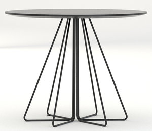 3ds knoll small paperclip table