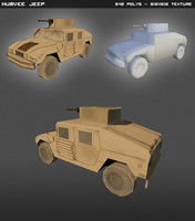 humvee hand painted 3d model