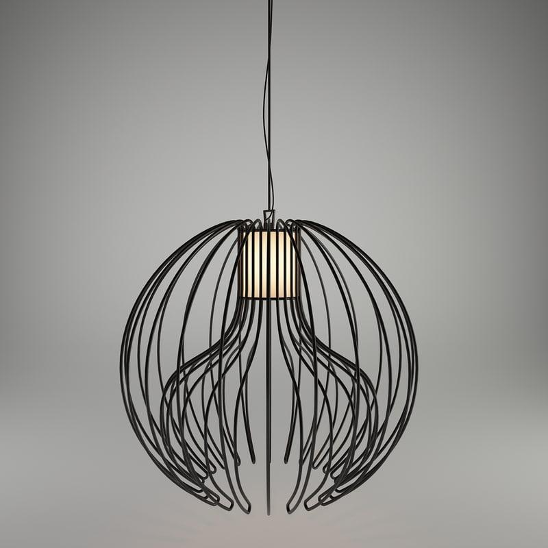 3d icaro ceiling lamp modo model