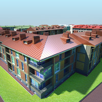3ds max residential area