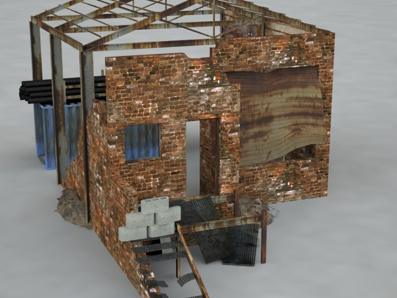 3d model warehouse ruined