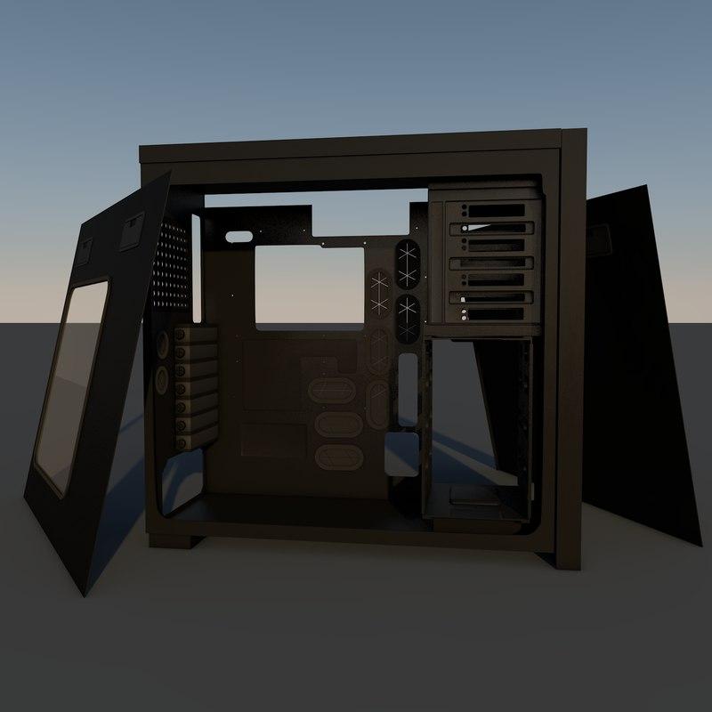 computer case 3d c4d