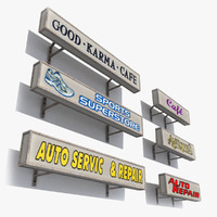 3ds max signs shop